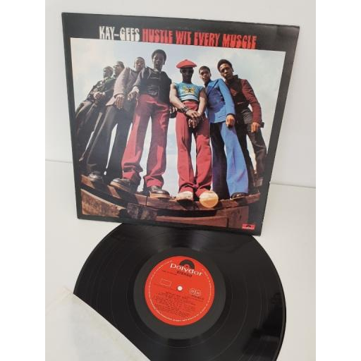 """KAY-GEES, Hustle with every muscle, SUPER 2310 467, 12"""" LP"""