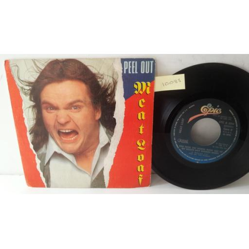 "MEATLOAF peel out, SPANISH PRESSING PICTURE SLEEVE 7"" single, EPC A 2204"