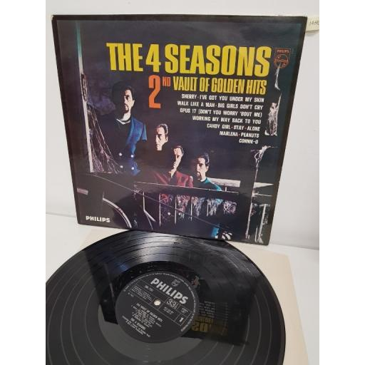 "THE 4 SEASONS, 2nd vault of golden hits, SBL 7751, 12"" LP"
