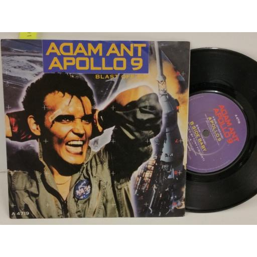 ADAM ANT apollo 9 (blast off mix), PICTURE SLEEVE, 7 inch single, A 4719