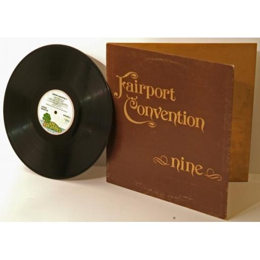 FAIRPORT CONVENTION, Nine. PINK RIM. Great copy. Very rare. First UK pressing...