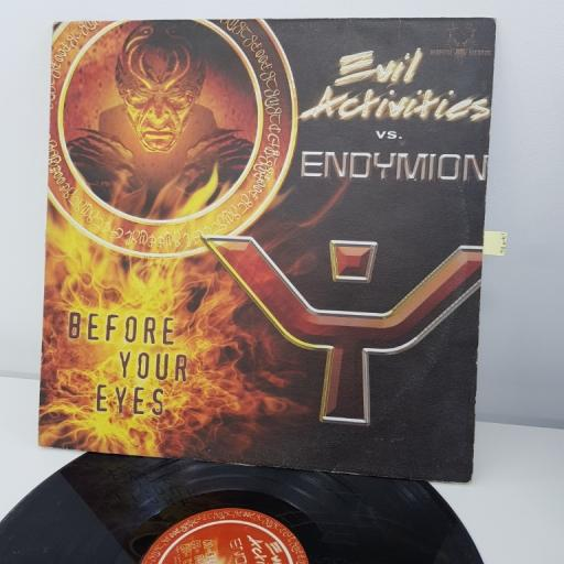 "EVIL ACTIVITIES, vs. ENDYMION, before your eyes, 12"", NEO 015"
