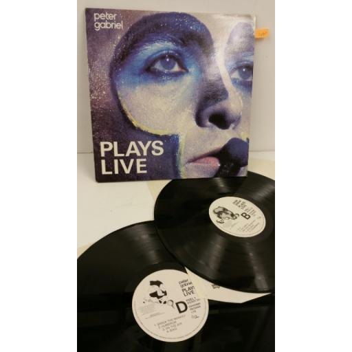 PETER GABRIEL plays live, 2 x lp, PGDL 1