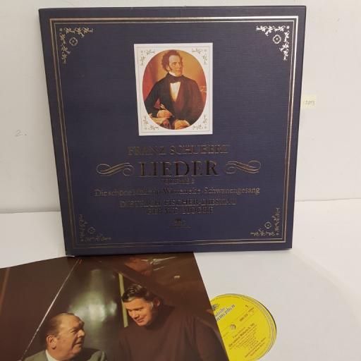 """Franz Schubert, Dietrich Fischer-Dieskau, Gerald Moore – Lieder Volume 3 - Die Schöne Müllerin • Winterreise • Schwanengesang, 2720 059, 4x12"""" LP, box set"""