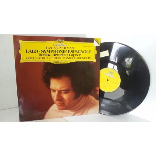 LALO, BERLIOZ, ORCHESTRE DE PARIS, ITZHAK PERLMAN, DANIEL BARENBOIM symphonie espagnole op. 21 / reverie et caprice op. 8, 2532 011