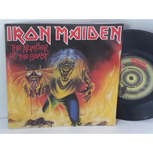 IRON MAIDEN the number of the beast, 7 inch single, EMI 5287