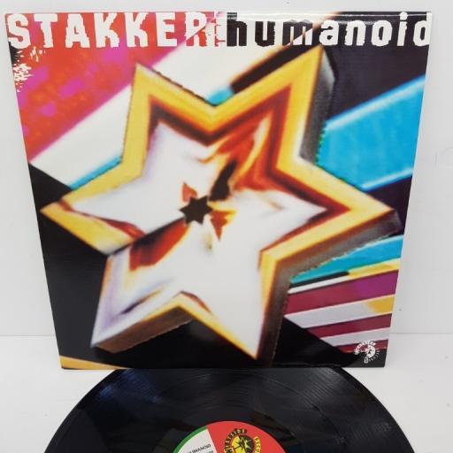 "HUMANOID, stakker humanoid + (radio edit), B side (the omen mix), WSRT 12, 12"" single"
