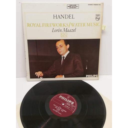 HANDEL royal fireworks/ water music lorin maazel rso berlin, PHS900-142
