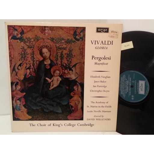VIVALDI, PERGOLESI, THE CHOIR OF KING'S COLLEGE CAMBRIDGE, THE ACADEMY OF ST MARTIN IN THE FIELDS gloria/magnificat, ZRG 505, lyric insert