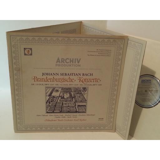 JOHANN SEBASTIAN BACH, MUNCHENER BACH ORCHESTER , KARL RICHTER Brandenburgische Konzerte (2) (Nr. 2 F-Dur, BWV 1047 · Nr. 4 G-Dur, BWV 1049 · Nr. 5 D-Dur, BWV 1050), tri fold, 198 488
