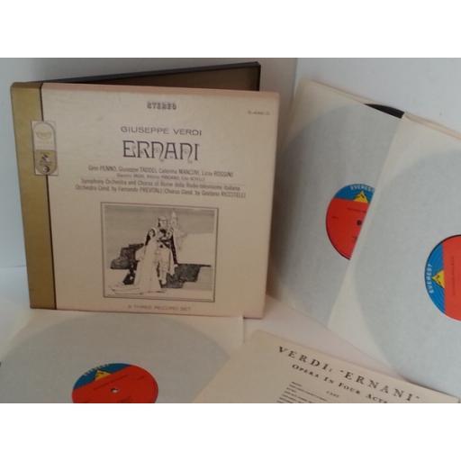 GIUSEPPE VERDI ernani, S-448, 3 x vinyl boxset and libretto.