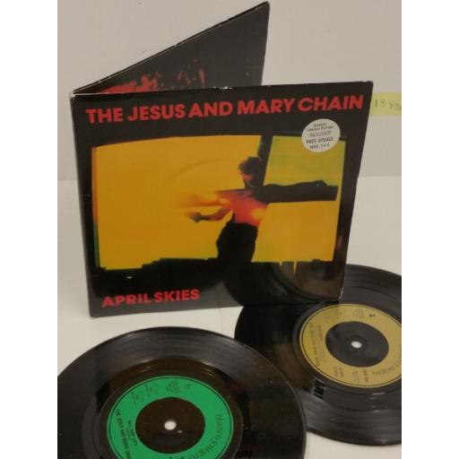 THE JESUS AND MARY CHAIN april skies, gatefold, 2 x 7 inch single, NEG 24F