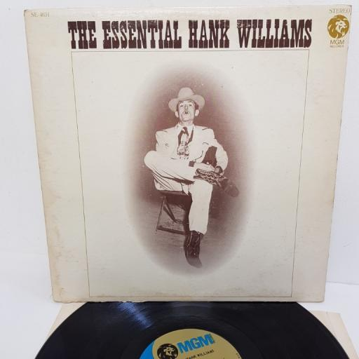 "HANK WILLIAMS, the essential hank williams, SE 4651, 12"" LP, compilation"
