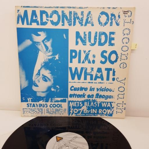 "CICCONE YOUTH, MADONNA, tiffy tiffy rap into the groovey, burnin' up, 12""SINGLE, BFFP 8 NAR 030"