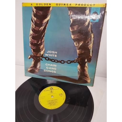 "JOSH WHITE, chain gang songs, spirituals and blues, GGL 0205, 12"" LP, MONO"