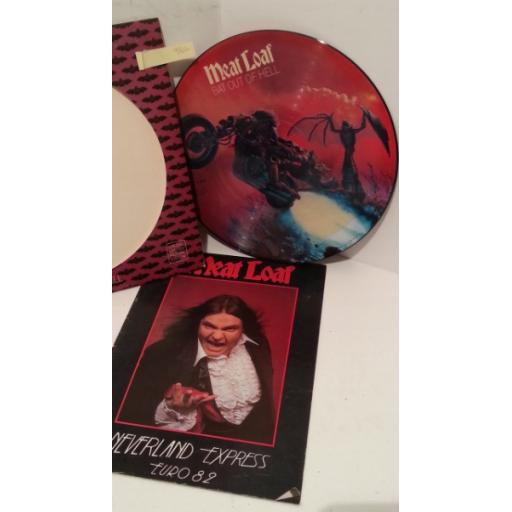 MEATLOAF bat out of hell, limited edition picture disc PLUS meatloaf neverland express euro 1982 tour programme, 34974