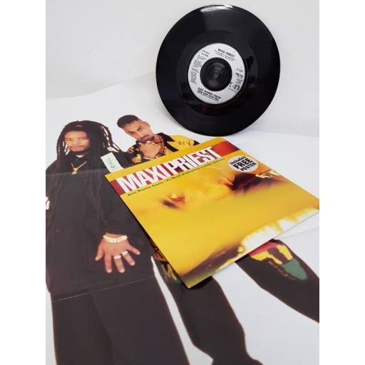 "MAXI PRIEST, just wanna know, B side fe real and too late to turn back now, TEN 416, POSTER AND 7"" EP"
