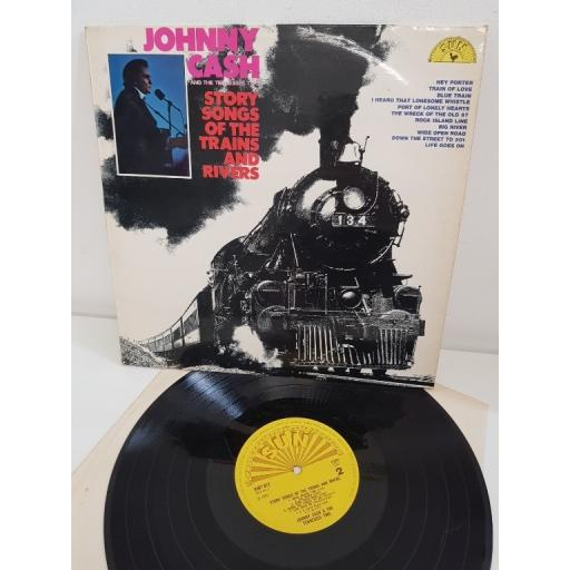 "JOHNNY CASH, story songs of the trains and rivers, 6467012, 12"" LP"