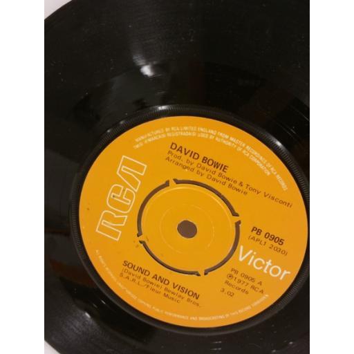 Description: DAVID BOWIE sound and vision, 7 inch single, PB 0905