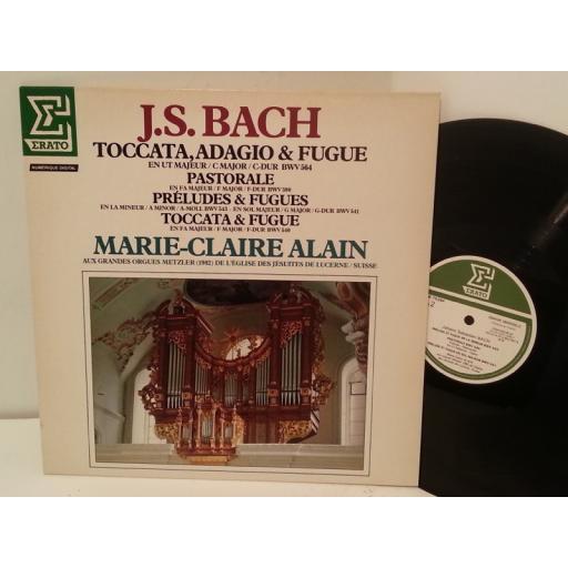 BACH/ MARIE CLAIRE ALAIN toccata, adagio & fugue, NUM 75294