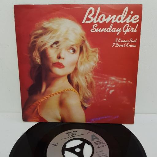 "BLONDIE, sunday girl, B side I know but I don't know, CHS 2320, 7"" single"