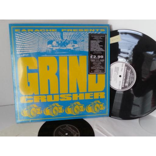 VARIOUS grindcrusher the earache sampler, MOSH 12, includes etched 7 inch single