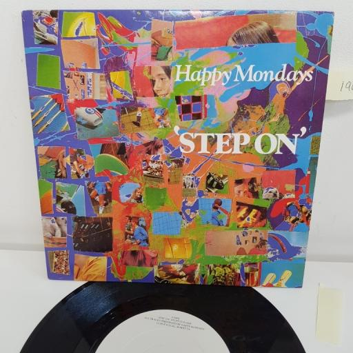 """HAPPY MONDAYS, step on stuff it in mix, B side step on one louder mix, FAC 272/7, 7"""" single"""