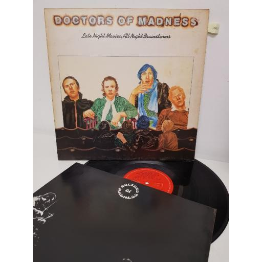 """DOCTORS OF MADNESS, late night movies, all night brainstorms, 2383 378, 12"""" LP"""
