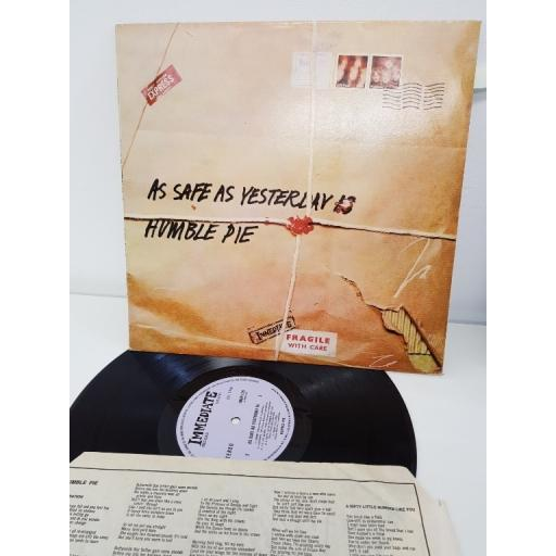 "HUMBLE PIE, as safe as yesterday is, IMSP 025, 12""LP"