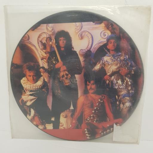 "QUEEN, it's a hard life, B side is this the world we created...?, 12 QUEENP 3, 12"" single, picture disc"