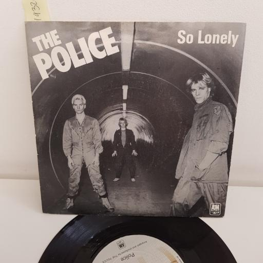 "THE POLICE, so lonely, B side no tiem this time, AMS 7402, 7"" single"