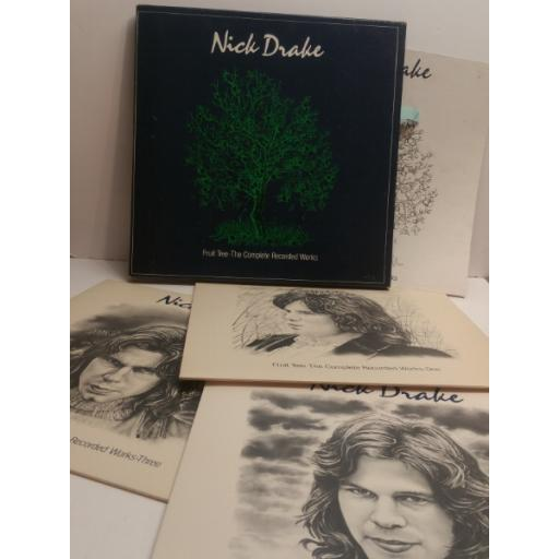 NICK DRAKE fruit tree, the complete recorded works THREE ALBUM BOX SET WITH BOOK NDSP100