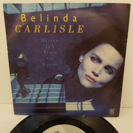 "BELINDA CARLISLE, heaven is a place on earth, B side we can change, VS 1036, 7"" single"