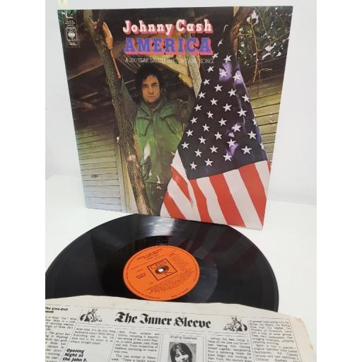 "JOHNNY CASH, a 200-year salute in story & song, S 65163, 12"" LP"