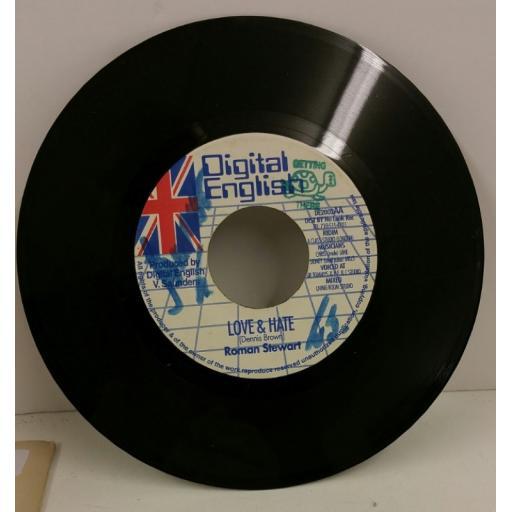 ROMAN STEWART love & hate, 7 inch single, DE2002