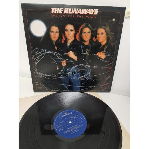 "THE RUNAWAYS, waitin' for the night, 9100 047, 12"" LP"