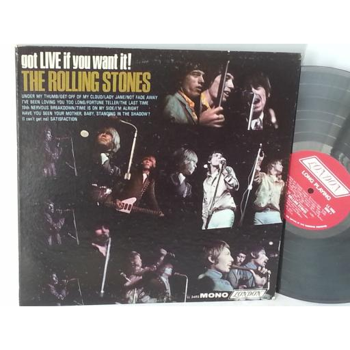 THE ROLLING STONES go live if you want it LL 3493