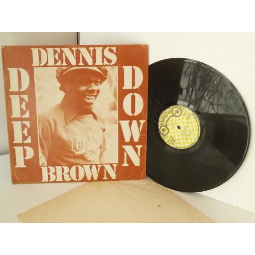 SOLD DENNIS BROWN deep down, vinyl LP