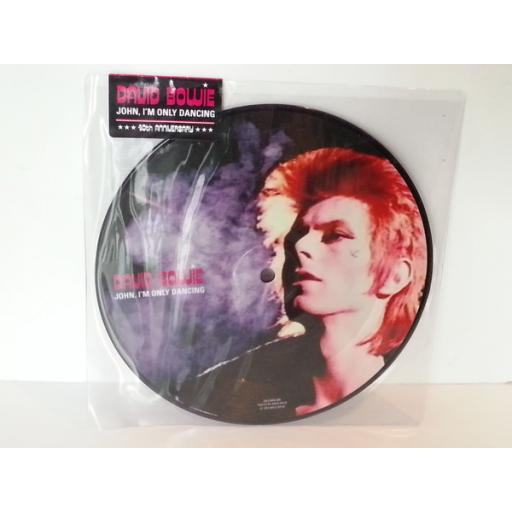 DAVID BOWIE john im only dancing, 7 inch picture disc, DBJOHN 40