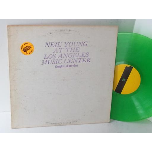 NEIL YOUNG at the los angeles music center, green vinyl, NY 109