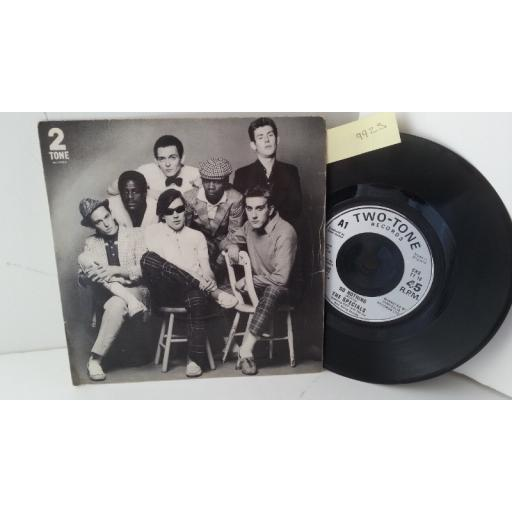 "THE SPECIALS do nothing, 7"" single, CHS TT 16"