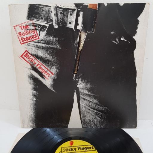 DIE-CUT SLEEVE WITH SMALL ZIPPER , including insert, THE ROLLING STONES, sticky fingers, COC 59100