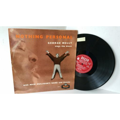 GEORGE MELLY nothing personal, LK 4226
