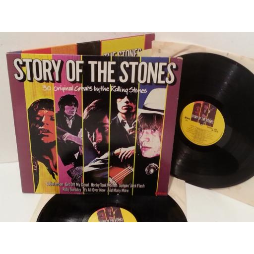 THE ROLLING STONES story of the stones, gatefold, double album, NE 1201