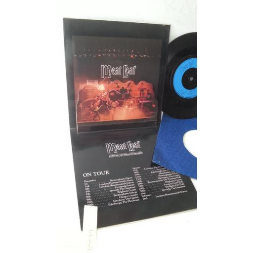 """MEATLOAF nowhere fast, 7"""" single, limited edition gatefold pop up sleeve, ARIPU 600"""