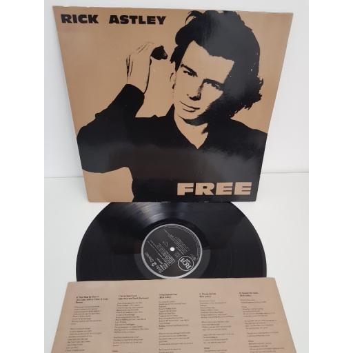 "RICK ASTLEY, free, PL 74896, 12"" LP"