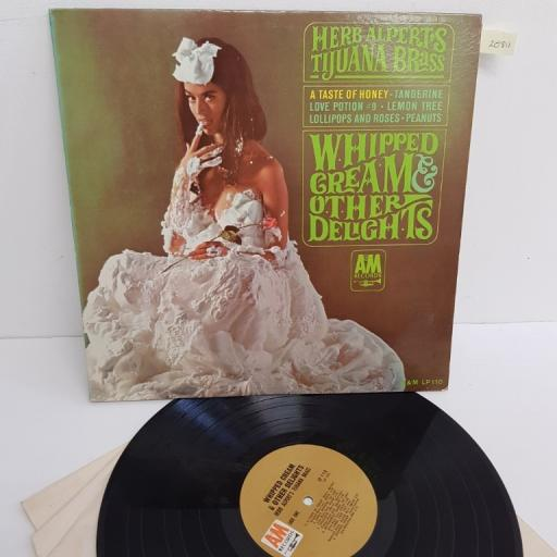 "HERB ALPERT'S TIJUANA BRASS, whipped cream & other delights, LP 110, 12"" LP, mono"
