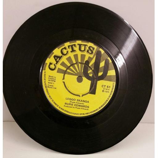 RUPIE EDWARDS leggo skanga, 7 inch single, CT 51