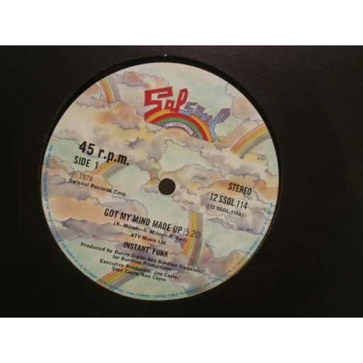 INSTANT FUNK got my mind made up 12 INCH SINGLE 12SSOL114