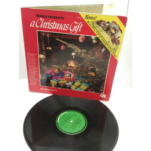VARIOUS ARTISTS INCLUDING BARBRA STREISAND BING CROSBY JOHNNY CASH ronco presents a christmas gift, P 12430